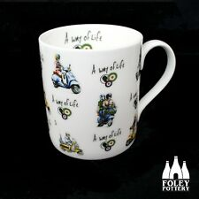 AWOL: Lambretta, Vespa, Scooter, royal alloy, inspired Mug By Foley Pottery