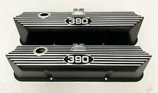 Ford FE 390 Tall Valve Covers Black - Die-Cast Aluminum - Ansen USA (PROTOTYPE)
