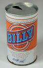 Vtg Billy Carter Beer 12oz Straight Steel Can Cold Spring Brewing