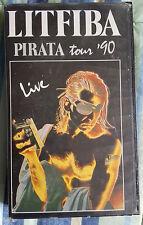 LITFIBA - PIRATA TOUR '90 LIVE - VHS originale 1990 Warner