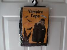 "NEW HALLOWEEN KIDS VAMPIRE BLACK CAPE 42"" AGE 8+"