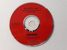 Genuine Compaq Presario Model 5070/5184/5185 Quick Restore Disk