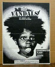 Original Punk Hip Hop Flyer 1980's VANDALS Grandmaster Flash FISHBONE + FANZINE