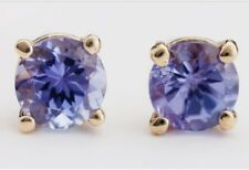 14ct gold earrings with genuine natural tanzanite stones with valuation