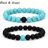 NEW Distance Bracelets For Lovers Friends Gift 8mm Beads Couples Christmas Gift