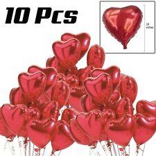 """10 PZ 18 """"RED HEART LOVE ELIO PALLONCINI SAN VALENTINO FESTA MATRIMONIO DECORAZIONI"""