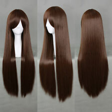Noragami Hiyori Iki Shibuya Rin Dark Brown 80cm Long Straight Cosplay Wig N020