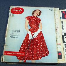 Vogue burda las modas 4/1955 - 2 patrones de corte-BG 50er años rockabilly