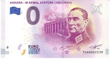 ANKARA, M.KEMAL ATATÜRK - SOUVENIR BILJET 0 EURO, Turkey - 2019/1-UNC(SB196)