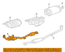 TOYOTA OEM 04-06 Camry 3.3L-V6 Exhaust System-Front Pipe 174100A370
