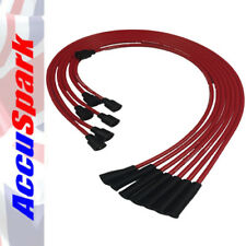 AccuSpark Red 8mm Silicon Carbon Core High Performance HT Leads Jaguar E type