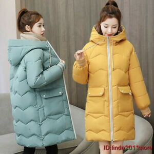 NEW WOMENS LADIES QUILTED WINTER COAT HOODED JACKET PARKA UK Size XS-3XL