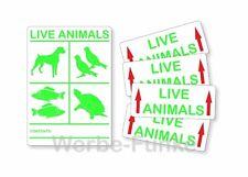 """1 Aufkleber-Set """" Live Animals """" für Versand , lebende Tiere"""