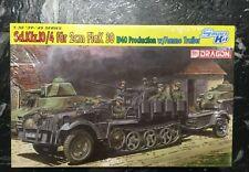 DRAGON 1/35 WW II GERMAN SD.KFZ. 10/4 FUR 2CM FLAK W/ AMMO TRAILER SMART 6711 FS