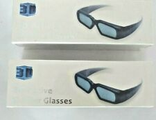 2 PAIR 3D ACTIVE SHUTTER GLASSES FOR DLP LINK 3D PROJECTOR NEW