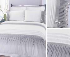 Parures et housses de couette blanc avec des motifs Brodé pour chambre à coucher