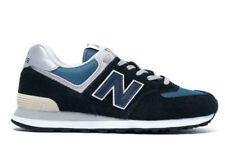 bnib NEW BALANCE 574 ESS UK 9 navy suede with grey 576
