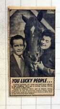 1954 Jockey Frankie Durr To Marry Odette Haley Acid Test Cheveley Park Stables