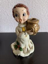 Vintage Josef Originals Singing Christmas Angel Candle Holder Figurine Japan