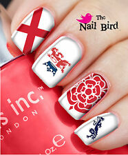 Nail Art Nail Decals Nail Transfers Wraps - ENGLAND RUGBY FOOTBALL GEORGE CROSS