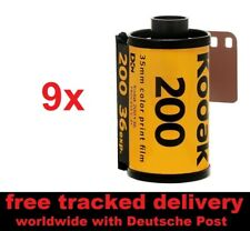 9x NEW Kodak Gold 200 ISO Color Neg Film 135/36 - FREE shipping! + NO CUSTOMS +
