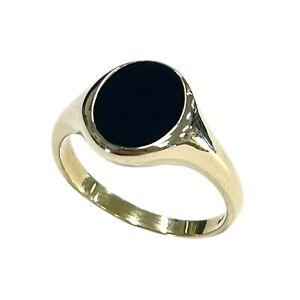 Men's Onyx 9ct Gold Ring