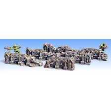 Armorcast Unpainted Terrain ACC016 Ruined Gothic Walls Graveyard Cathedral