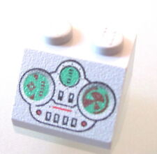 LEGO 3039px13 @@ Slope 45 2 x 2 Green & Light Gray Controls Pattern @@ 7141 7163