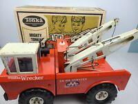 Vintage Mighty Tonka Wrecker Service No. 3915 With Original Box