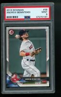 2018 Bowman #38 Andrew Benintendi Boston Red Sox RC Rookie Card PSA 9 MINT