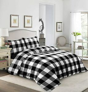 Ease-n-Comfort Duvet Cover set Polycotton soft classic check with pillowcases