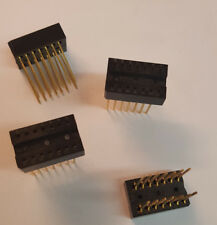 (Lot of 5pcs)Elco 14 Pin Wire Wrap Leaf Spring DIP IC Socket -14P