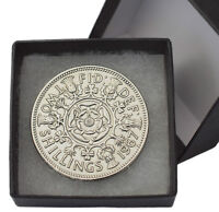 BOXED HIGHLY POLISHED FLORIN BIRTHDAY COIN CHOICE OF DATE 1947-1967 FREE POST