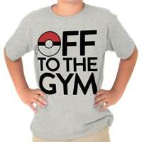 Off To The Gym Go Gamer Funny Nerd Geek Gift Youth T-Shirt Tees Tshirt For Kids