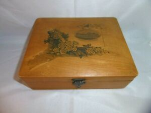 Antique Mauchlin ware box made for the French market. Les Ecuries Chantilly