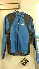 MEN'S ETXEONDO CYCLING GORE TEX FULL ZIP JACKET BLUE BLACK SIZE LARGE