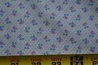 """24"""" Long, Vintage, Lavender & Blue Calico on Cream Quilt Cotton, Peter Pan,P207"""
