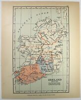 Vintage Map of Ireland about 1570 by Longmans Green 1914