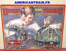 Plaque émaillée 1929 Lionel Catalog Cover Tin Sign Lionel