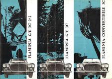 Brochure Dépliant Lancia Flaminia GT 3C e Convertibile 1963 ITA FRA ENG GER
