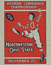 OHIO STATE BUCKEYES POSTER (1916 Game Program) - 8x10 Color Photo