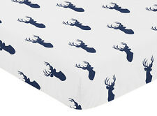 Baby Crib Or Toddler Fitted Sheet For Sweet Jojo Woodland Deer Bedding Set -Deer