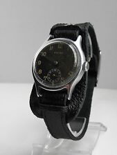 Rare Watch German Army HELIOS DH AS 1130 WWII 1940`s ORIGINAL BLACK DIAL