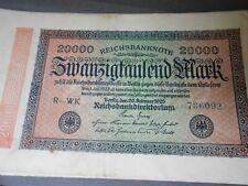 Reichsbanknote/Inflationsgeld 20000 Mark von 1923