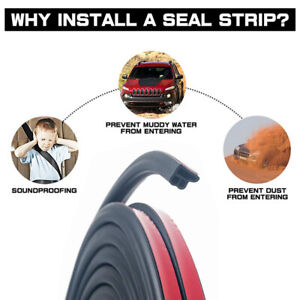 L-shape Seal Edge Trim Car Truck Door Window etc Trim Hollow Weather Strip 108''
