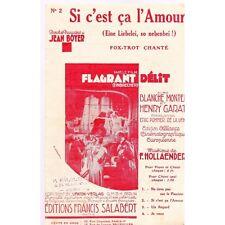 SI C'EST CA L'AMOUR fox trot chanté du film FLAGRANT DELIT musique HOLLAENDER