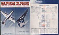VINTAGE PAN AM AMERICAN AIRWAYS COLLECTIBLE TIMETABLE BROCHURE 1949