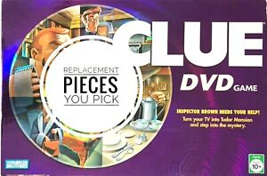 Clue DVD Game Replacement Pieces Parts 2006 Pawns, Padlocks, Cards More You Pick