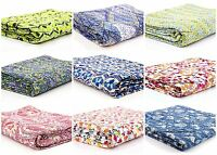 Indian Kantha Quilt Floral Gudari Bedding Blanket Throw Reversible Bedspread