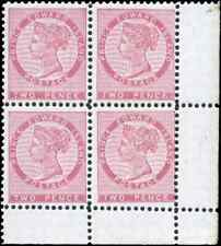 Prince Edward Island #5 mint VF OG NH 1862 Queen Victoria 2p rose Block of 4
